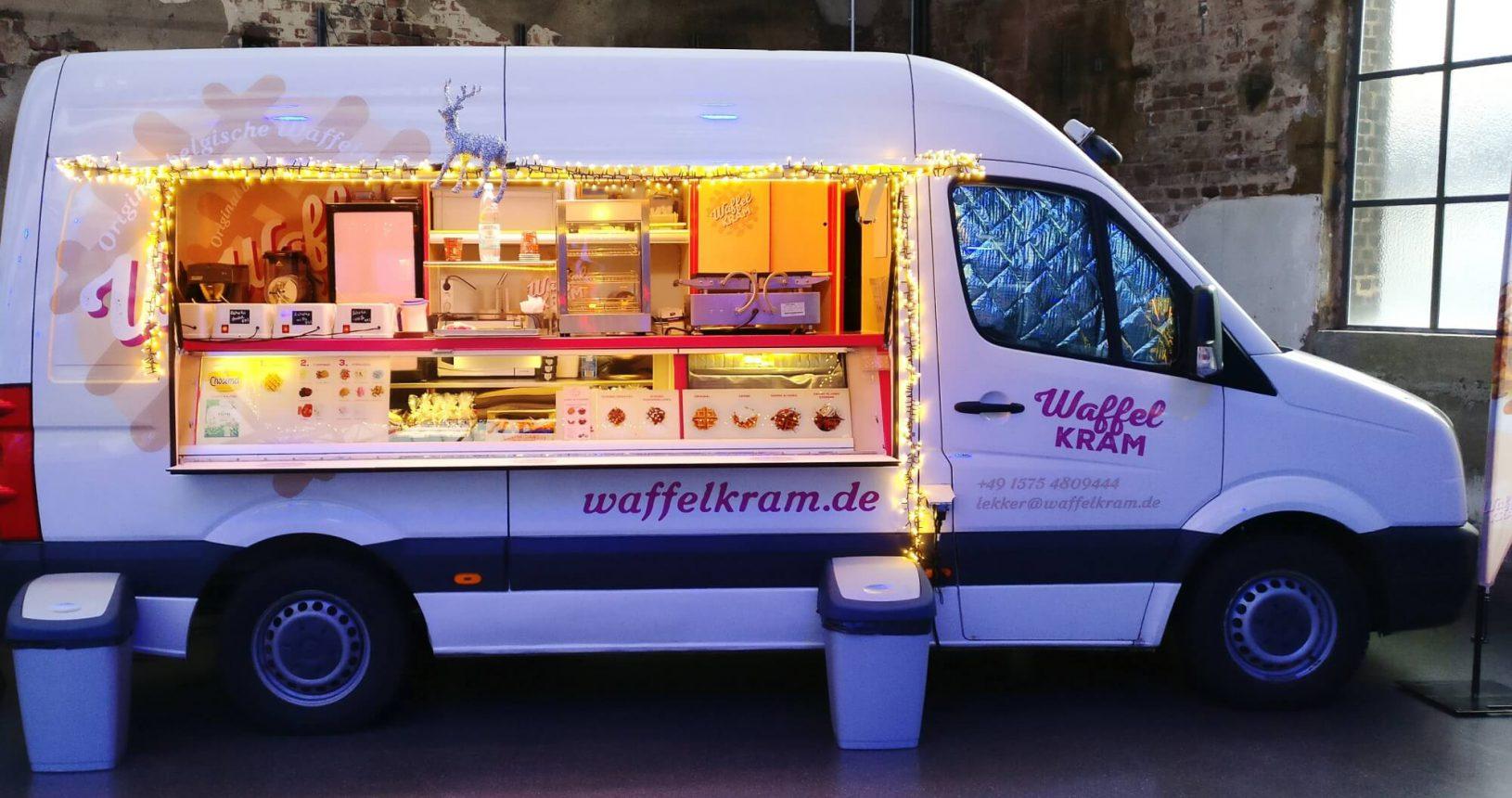 Waffelkram Nachtisch Dessert Waffel Food Truck Catering Streetfood Köln Bonn